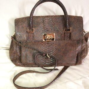 NEW Michael Kors Chocolate Brown Leather bag